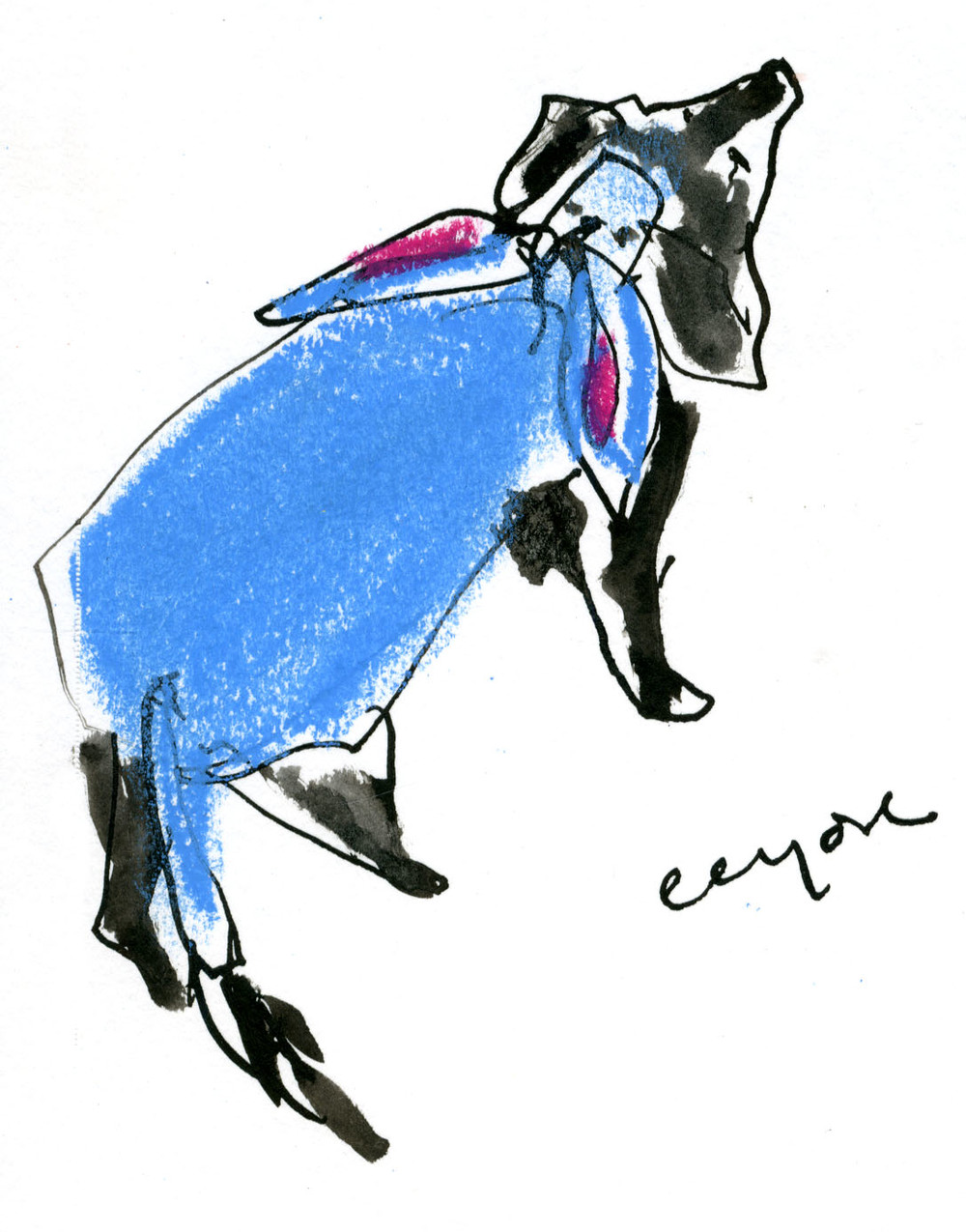 Eeyore dog © Carly Larsson 2014