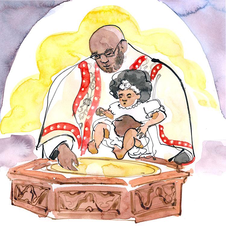 january  - baptism at saint paul's chapel