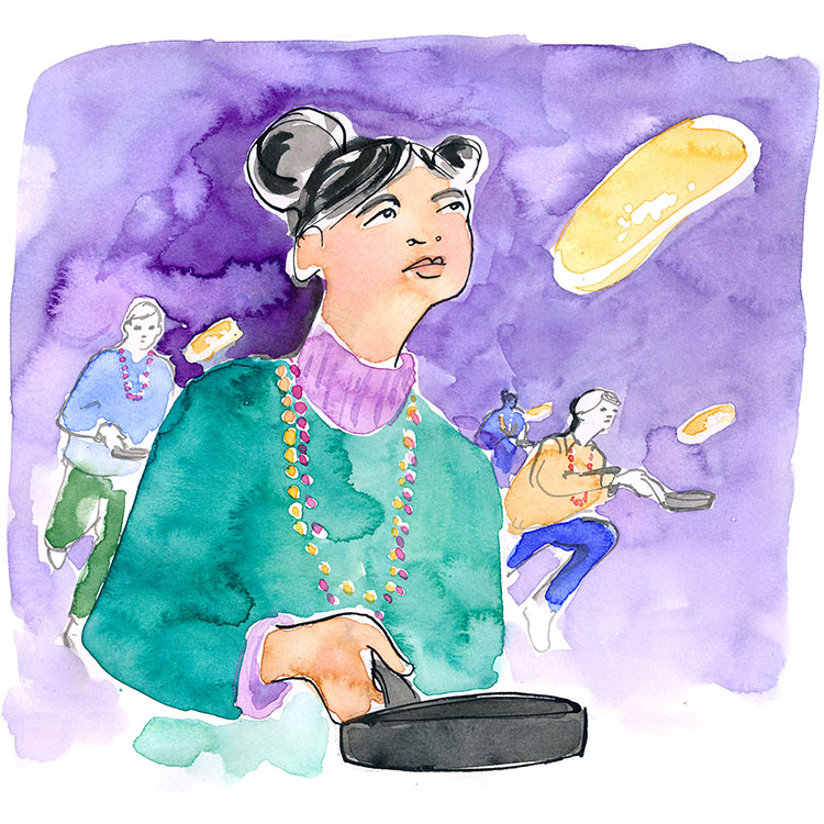 february  - mardi gras pancake races at saint paul's chapel