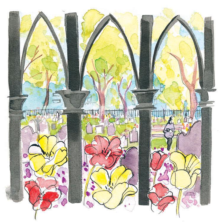 may  - trinity churchyard in bloom