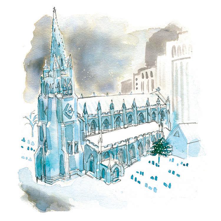 december  - trinity church wall street