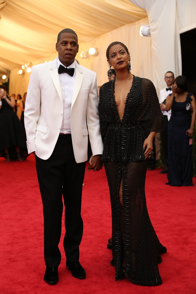 Jay Z with wife, Beyoncé Knowles