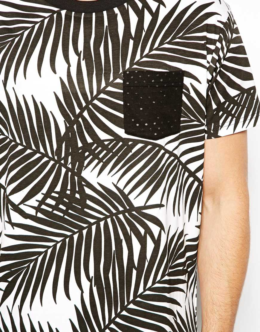 D-Struct T-Shirt in Palm Print