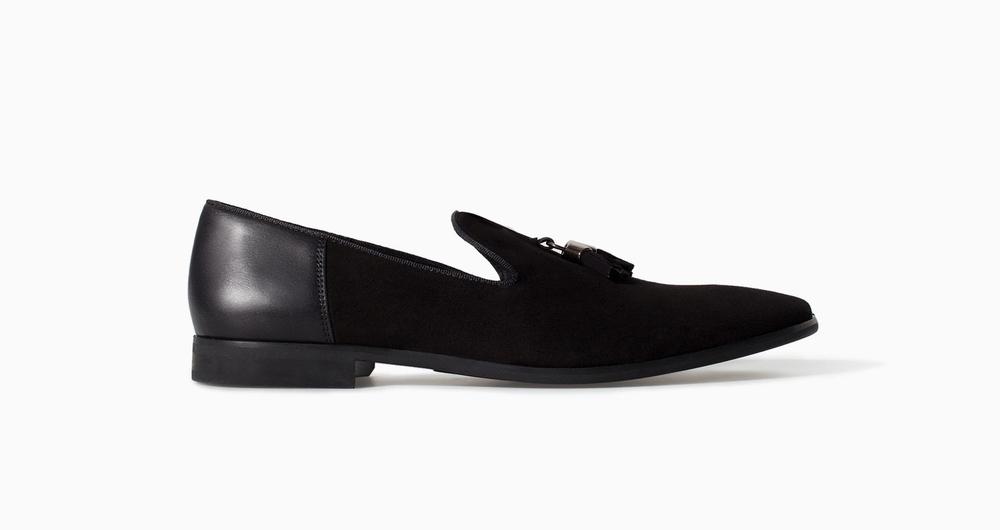 Zara Velvet Slip-On w/ Tassel, $60.00