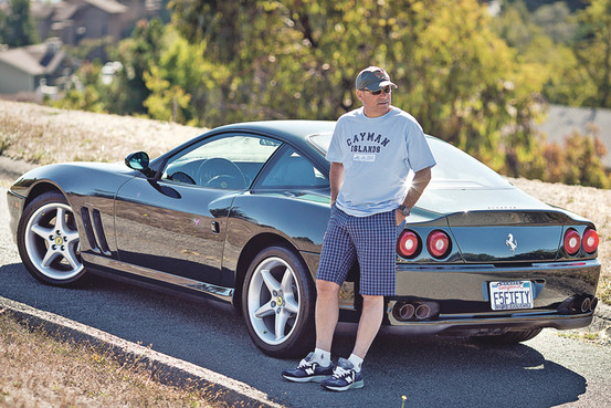 Barry Cohen and his Ferrari 550 Maranello, photo via WSJ.