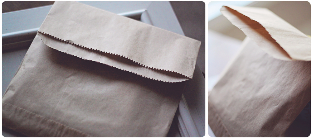 Everything goes into these awesome kraft bags!