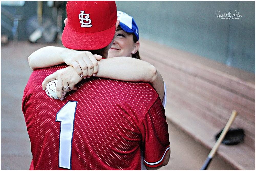 Kansas City Community America Ballpark Engagement photos
