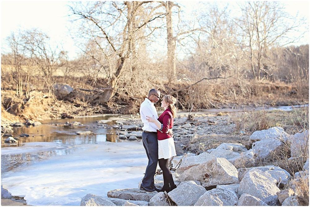 Line Creek Trail Kansas City engagement photos