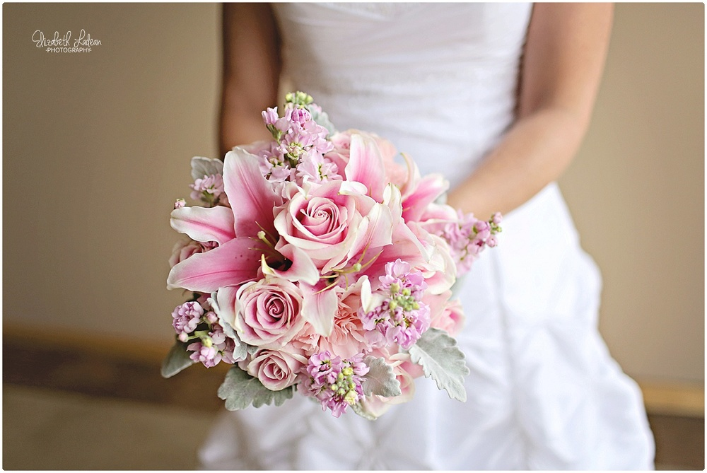 Floral Accents wedding day bouquet