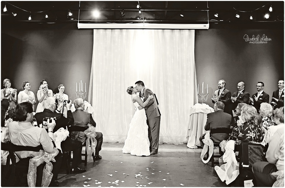 Black on Burlington wedding ceremony