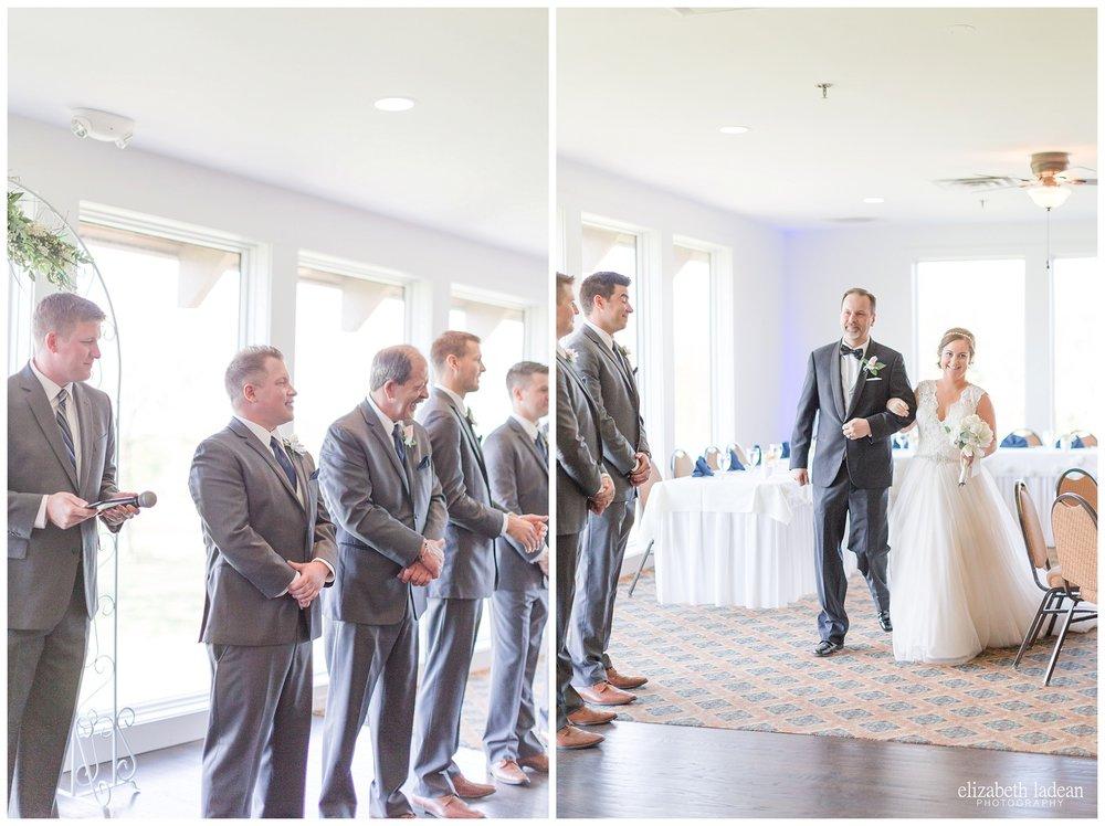 Indoor wedding ceremony at Deer Creek Golf Club