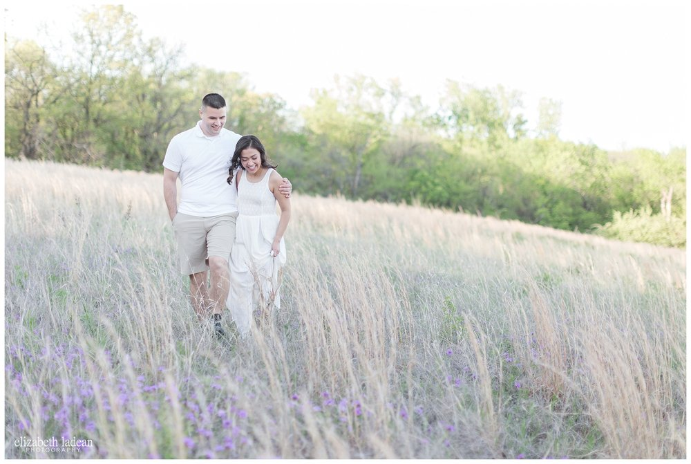 Purple Wildflower field engagement photos