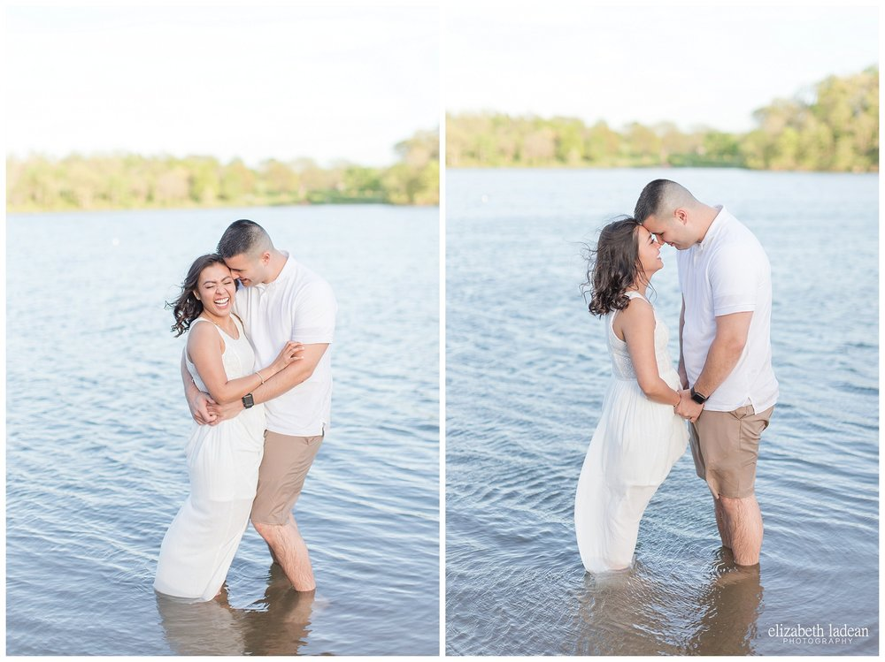 Lake style engagement photos