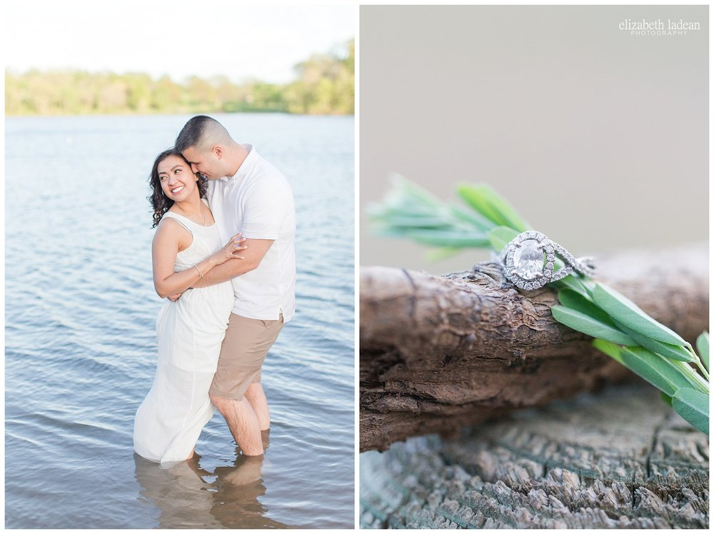 ankle deep water engagement photo