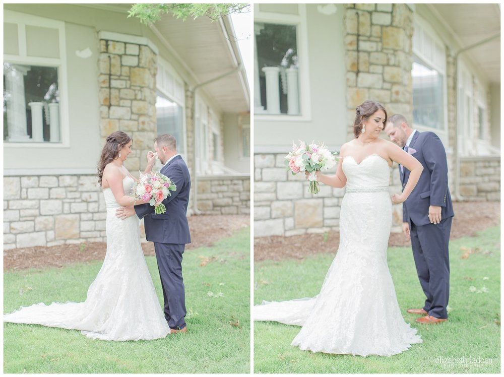 First Look wedding photography at Hillcrest Country Club