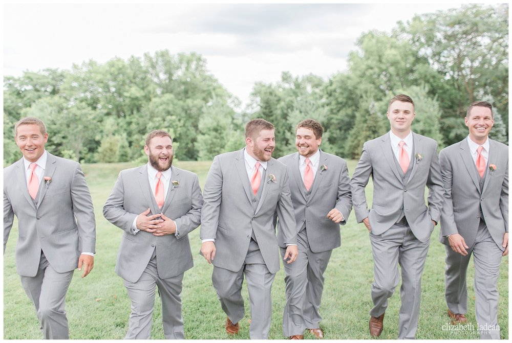 Gray tuxes bridal party