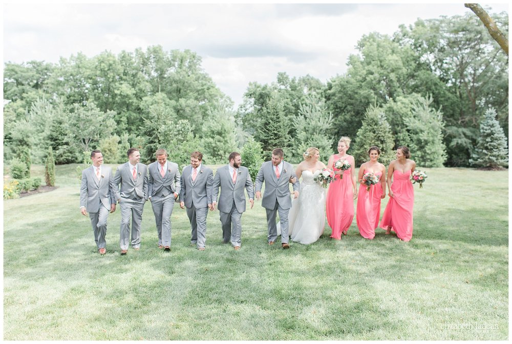 wedding party photos at eighteen ninety event space