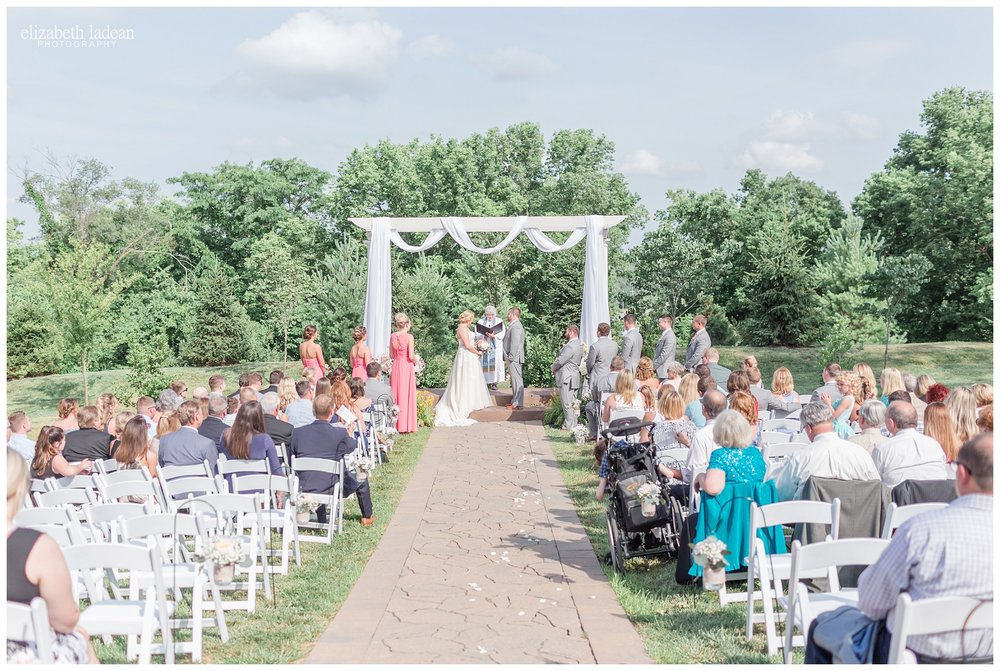 kansas city outdoor wedding ceremony at 1890
