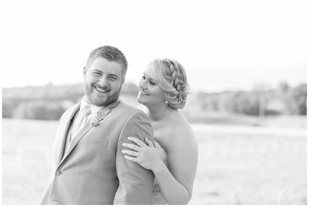 black and white bride and groom portraits kansas city
