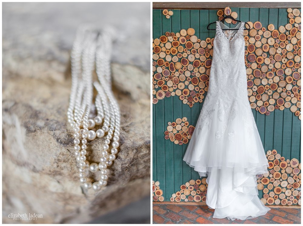 Bridal details at Abe and Jake's