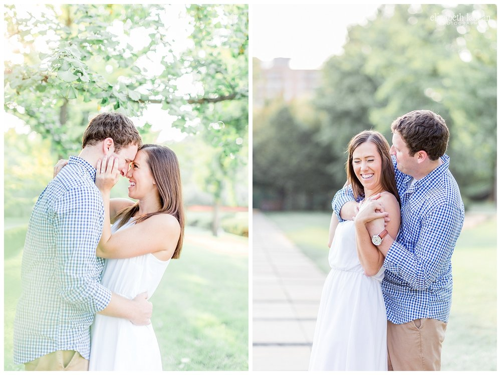 Natural light engagement photography