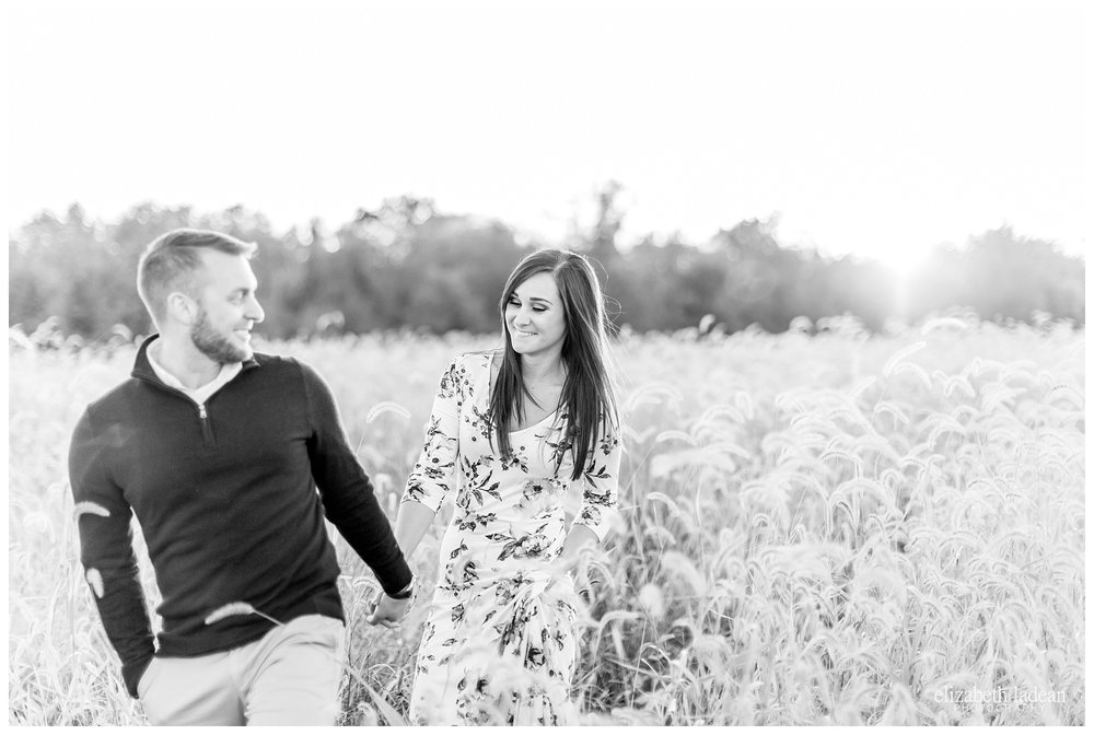black and white engagement photography, Kansas City