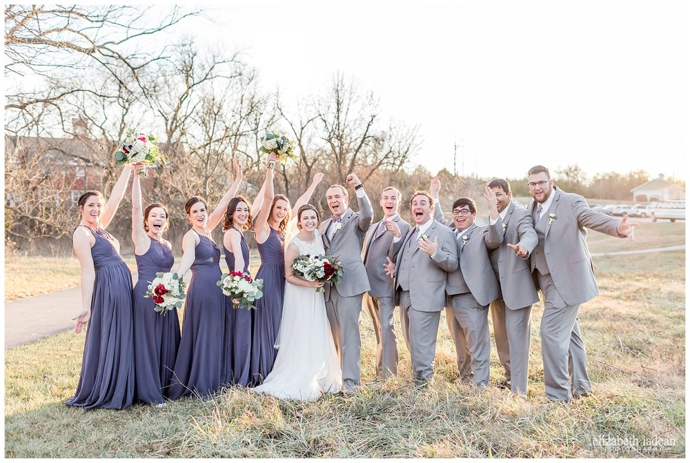 bridal party photos at Lodge at Ironwoods