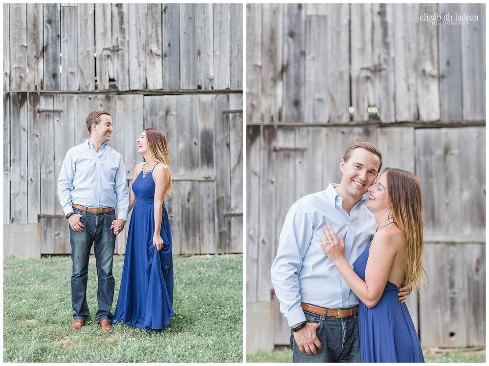 KC engagement session at Weston Bend State Park