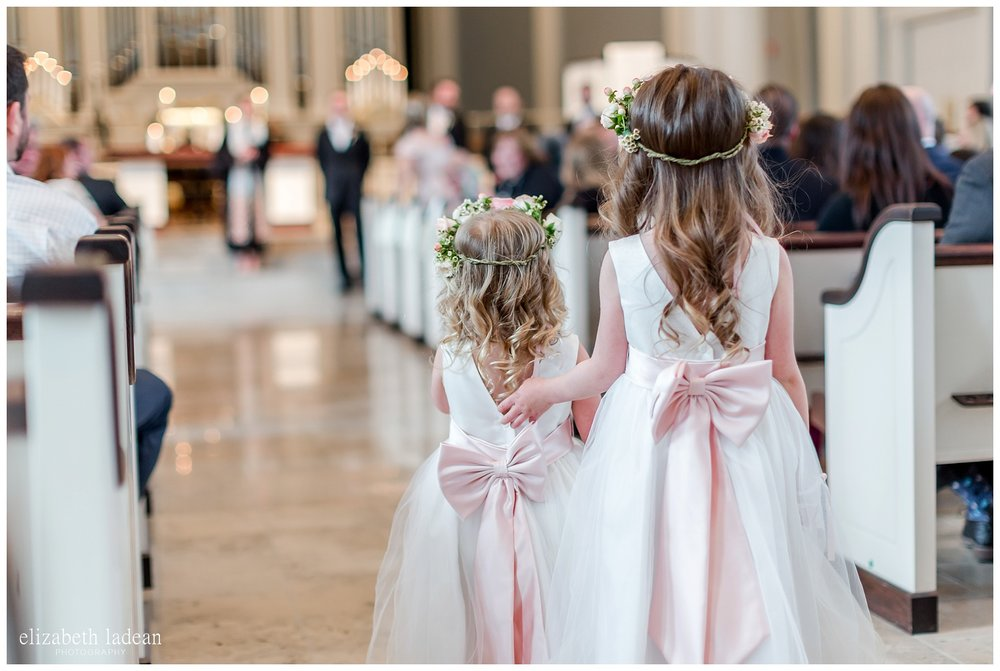 two flower girls wedding