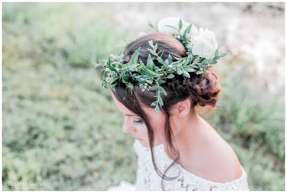 Boho floral crown for wedding