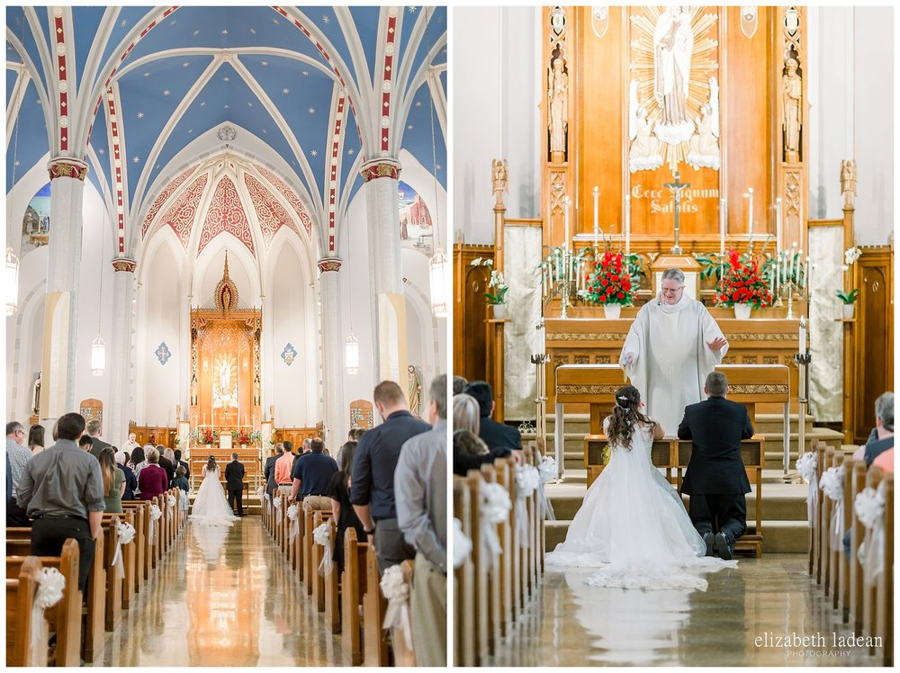 Leavenworth Kansas Catholic wedding photography