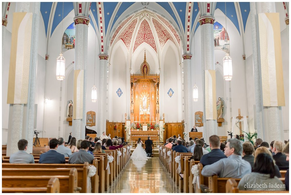 Leavenworth Kansas Catholic wedding ceremony