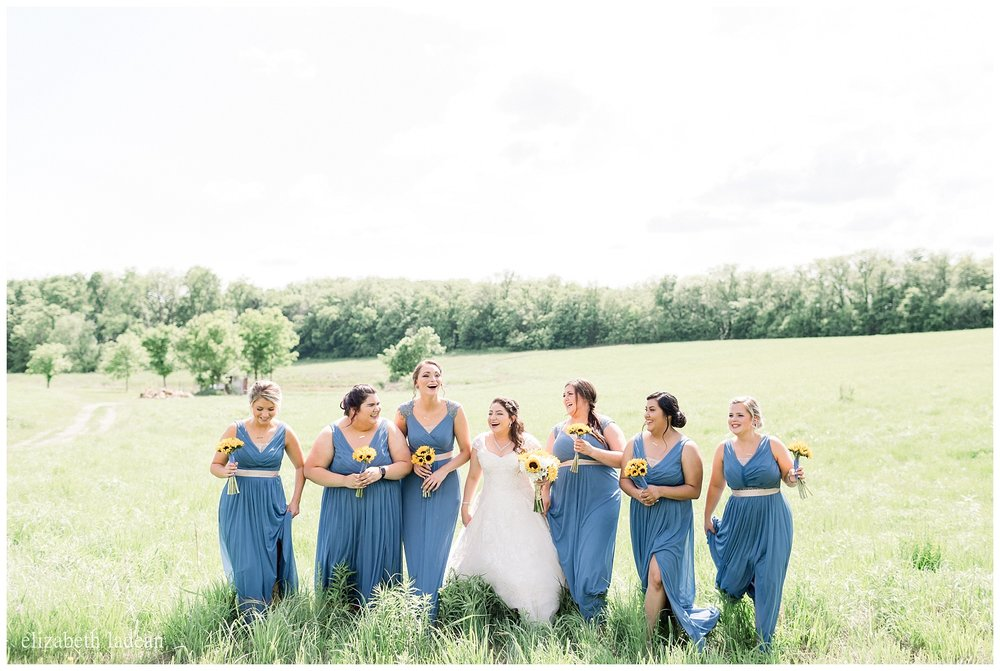 Bridal party photos at Weston Red Barn Farm