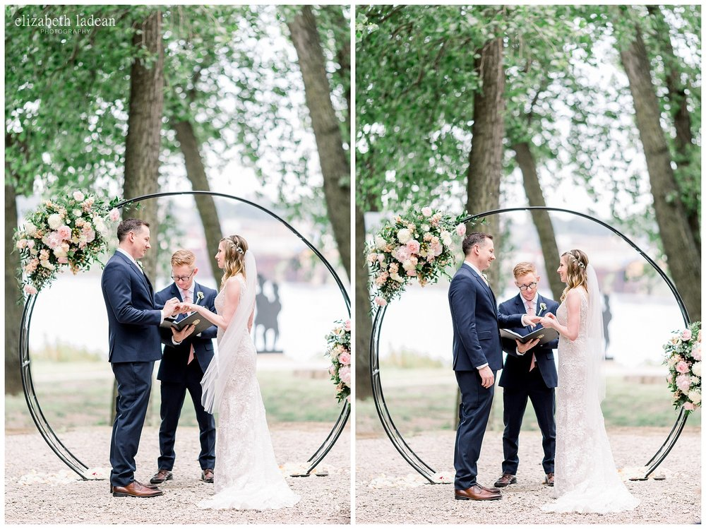 intimate outdoor kansas city wedding