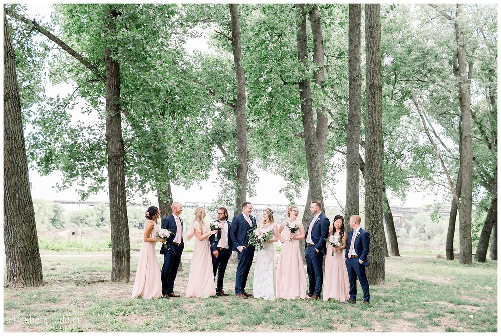 full bridal party photos kaw point park