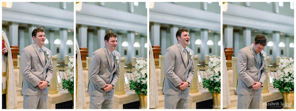 groom reaction wedding photography