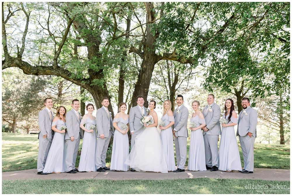 Bridal party wedding photography at Deer Creek, Kansas