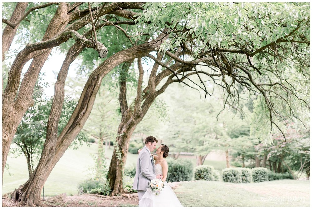 Bride and groom portraits at Deer Creek Golf Club, Kansas