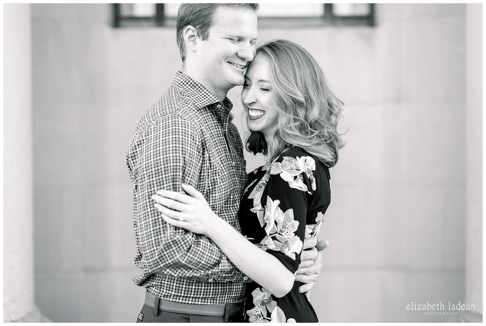unposed and natural engagement photography in kansas city
