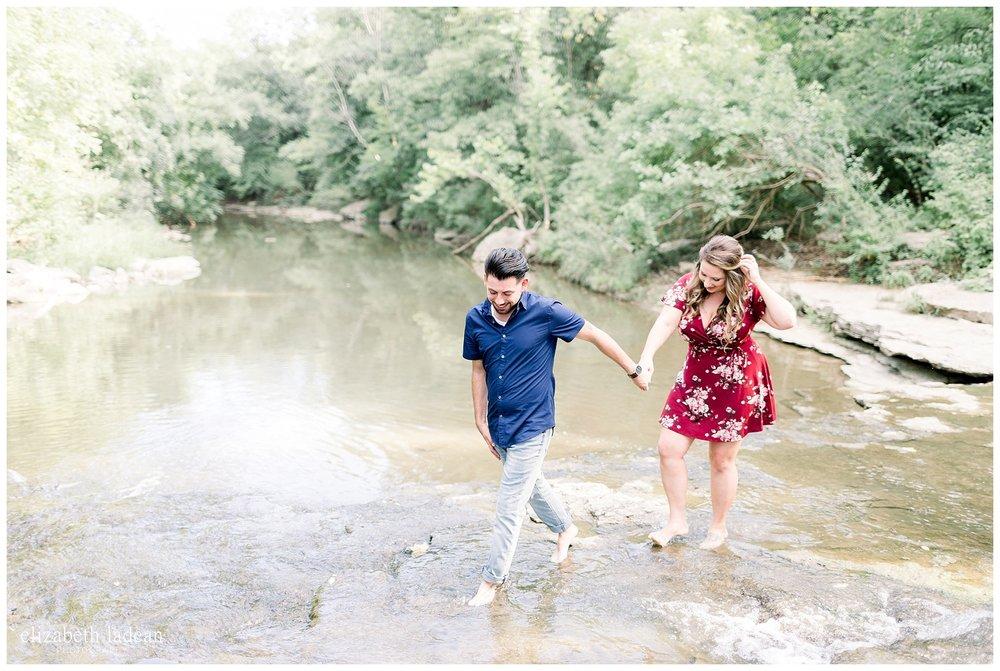 engagement photos in a creek kansas city