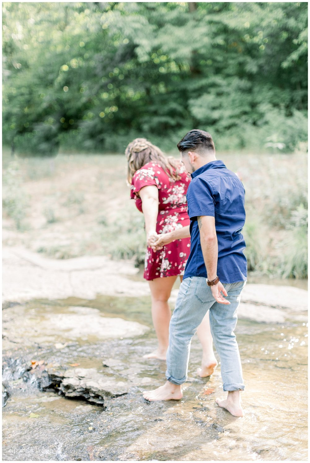engagement photos in water