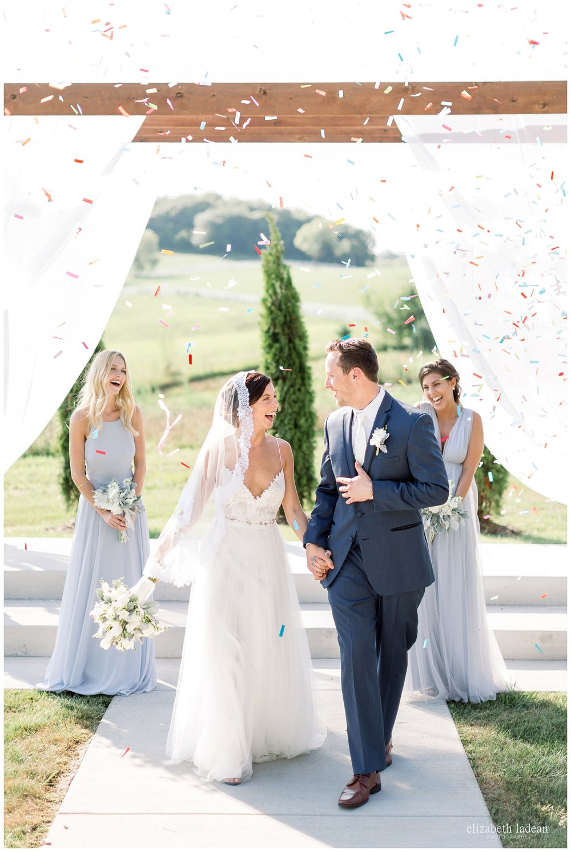 confetti exit at wedding ceremony