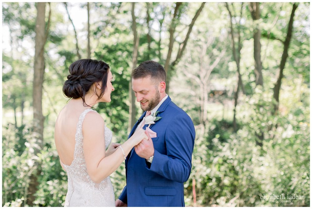 first look on wedding day
