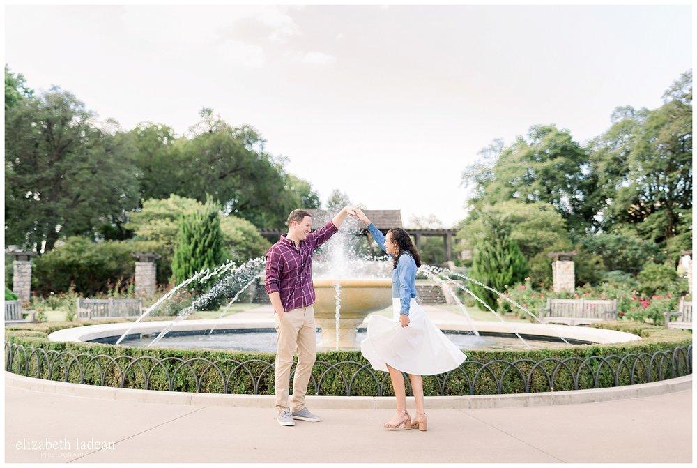 Loose Park KC engagement photography