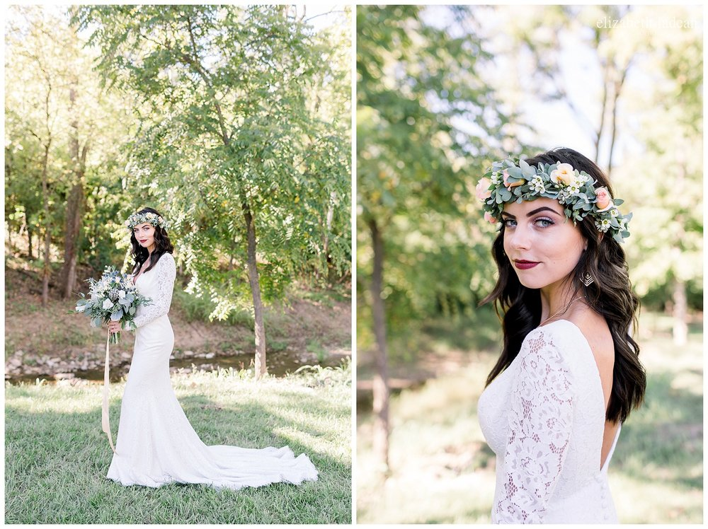 floral crown bride style inspiration