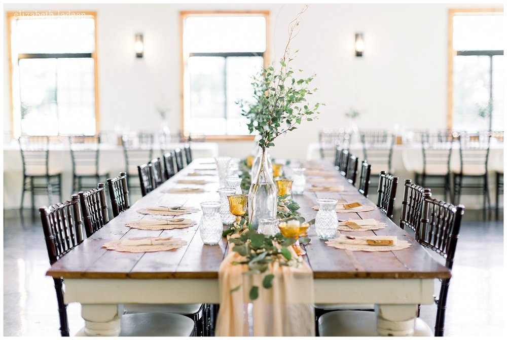 farmhouse style bridal party table for weddings