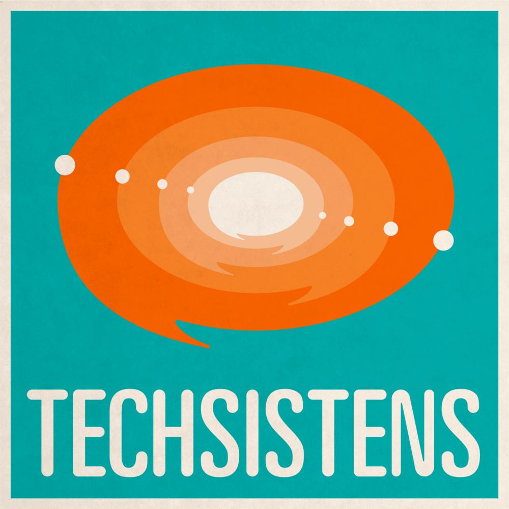 Cover til podcasten Techsistens. Lavet som vektor i Illustrator.