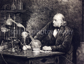 Chemistry experiment, 19th century