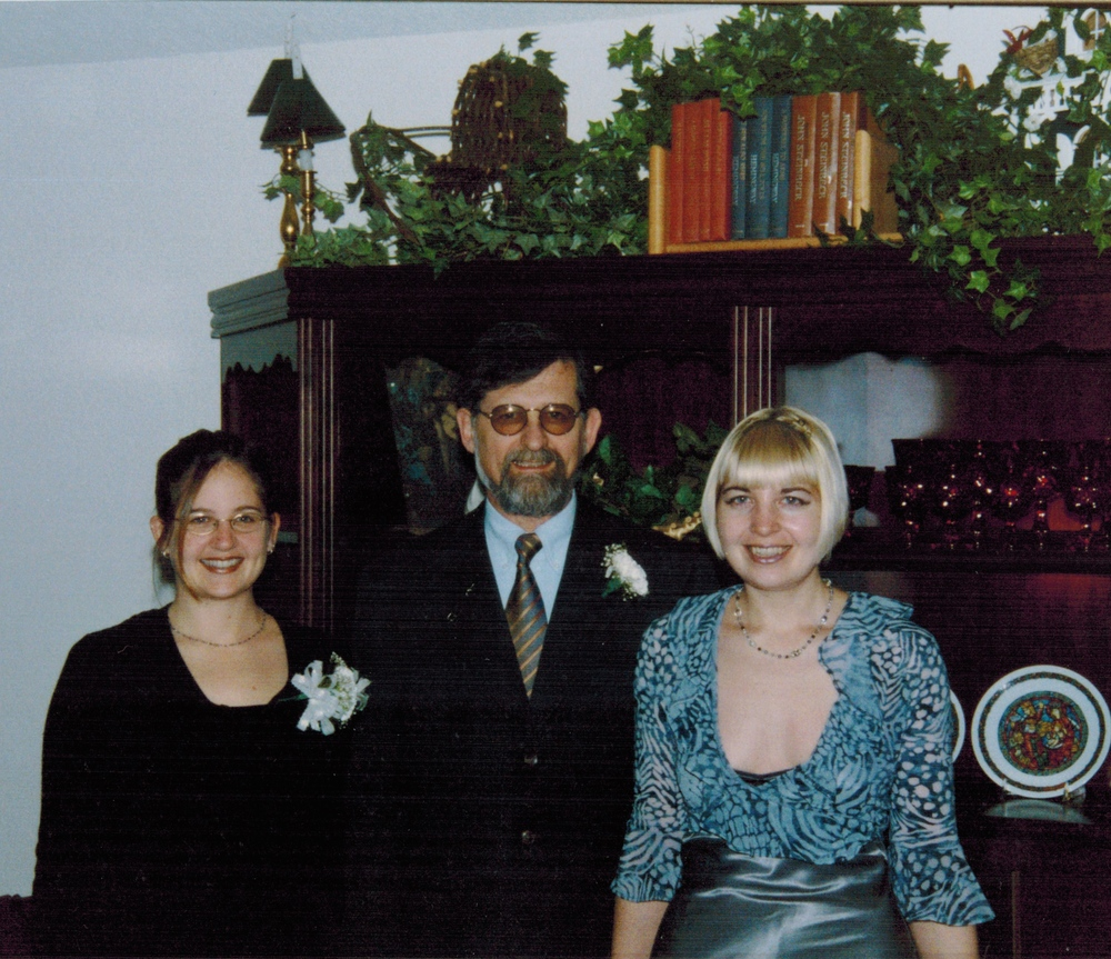 Dad remarries. 1998