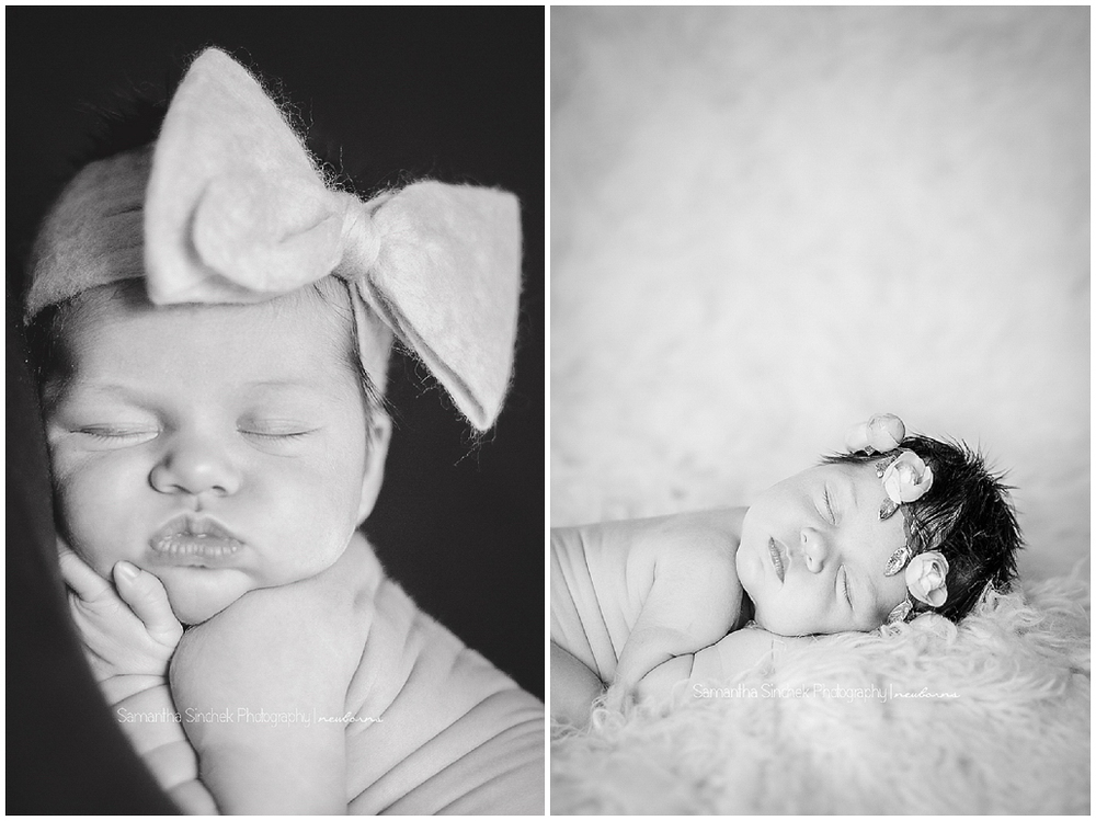 back and white images from a reading ohio newborn photography